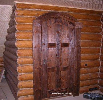 Дверь из массива сосны . Арочная