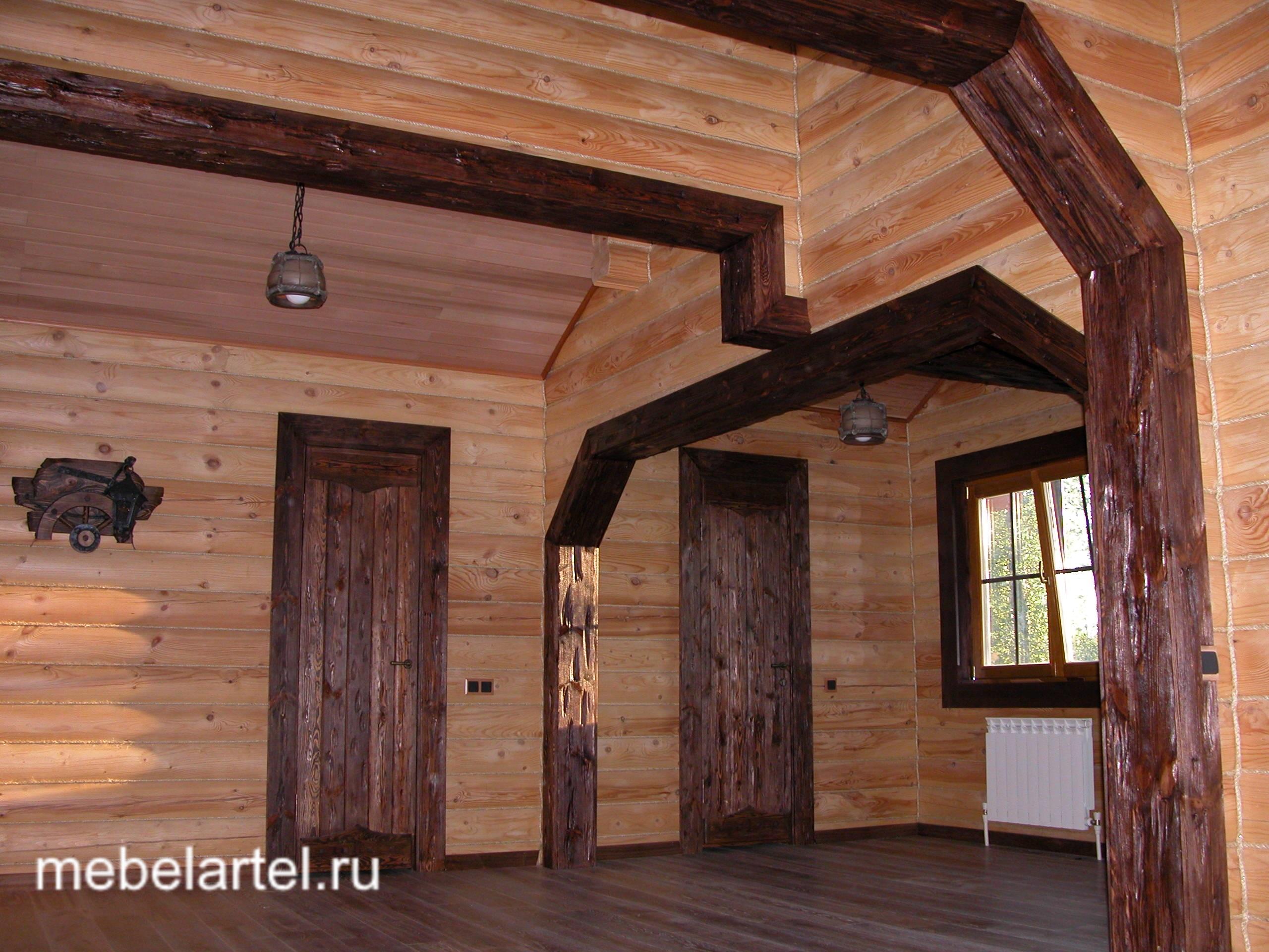 арка в деревянном доме из бруса фото системе