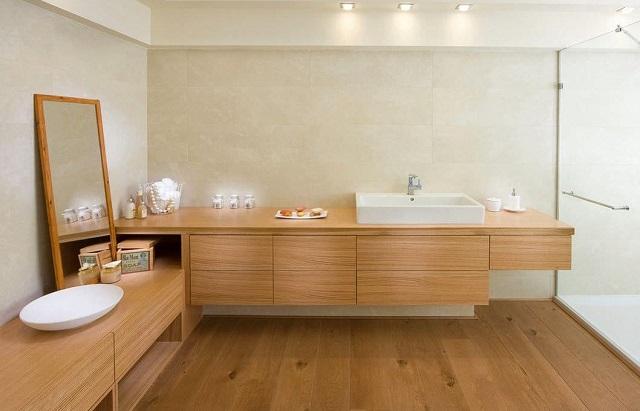 мебель для ванны из дерева